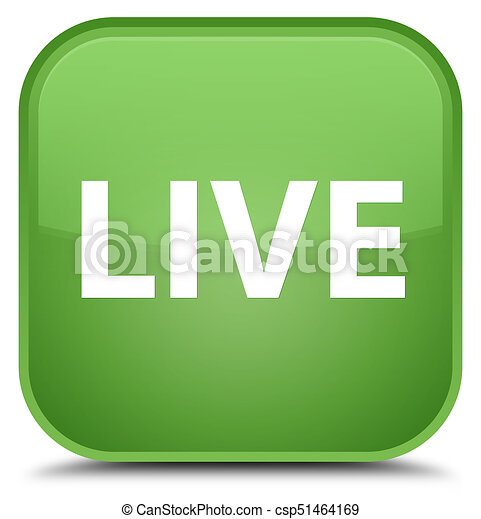 Live special soft green square button - csp51464169