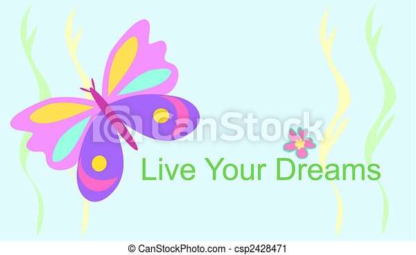Live Your Dreams Butterfly - csp2428471