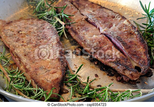 Liver with rosemary - csp9354723
