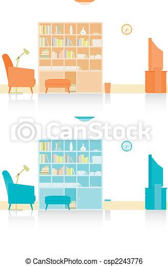 living room - csp2243776