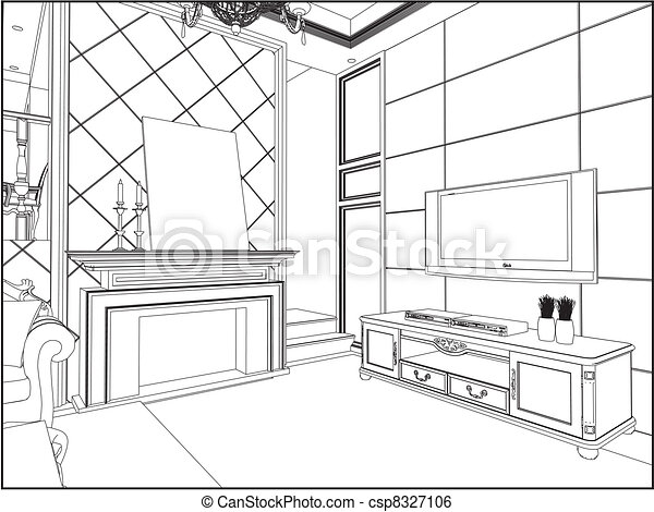 drawings of living rooms living room vector clip vector search drawings and 16101