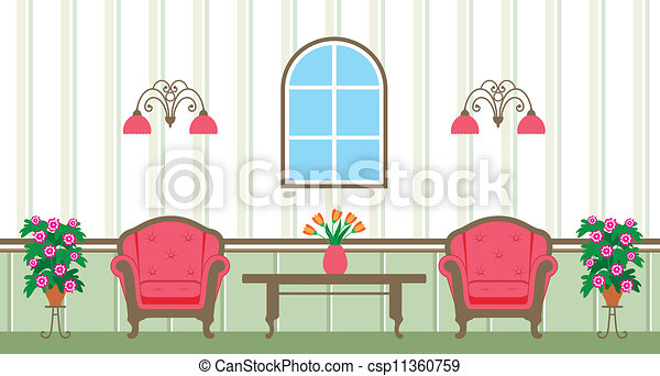 Clipart Vector Of Living Room