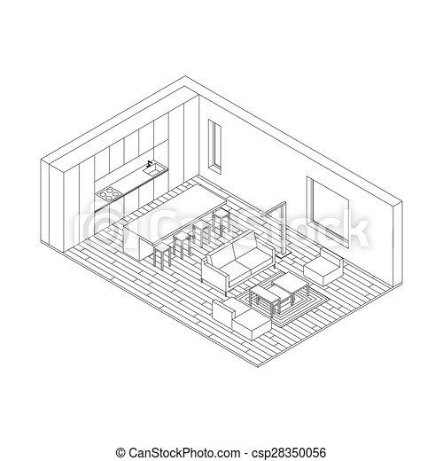 Living Room Drawing Plan