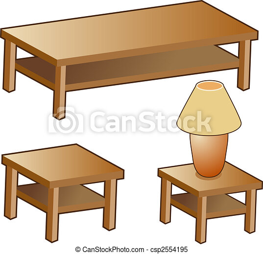 Living Room Furniture Isolated On A White Background