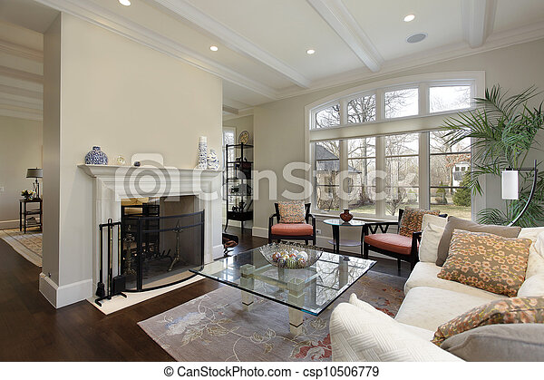 Living room in luxury home - csp10506779