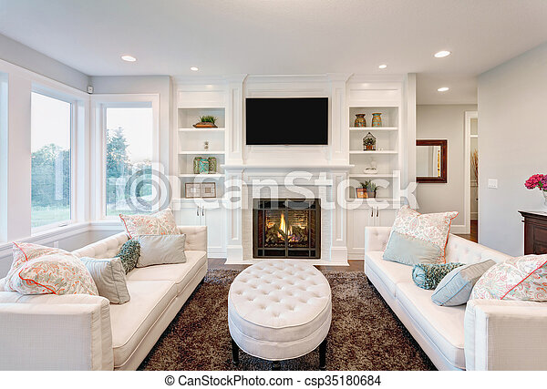Living Room in Luxury Home - csp35180684