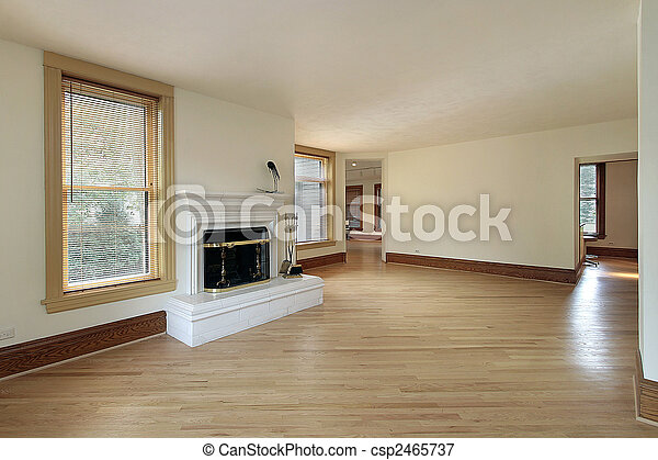 Living room in remodeled home - csp2465737