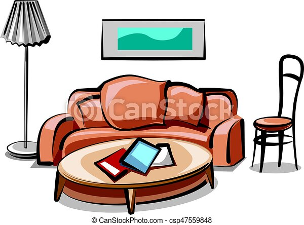 illustration of modern living room interior and furniture eps vector rh canstockphoto co uk living room picture clip art living room clipart images