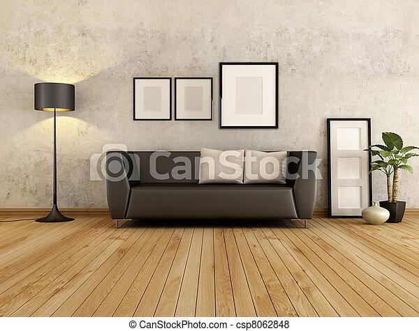 living room - csp8062848
