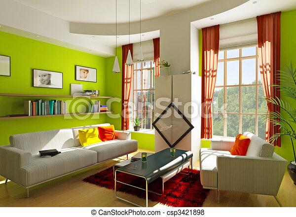 living room - csp3421898