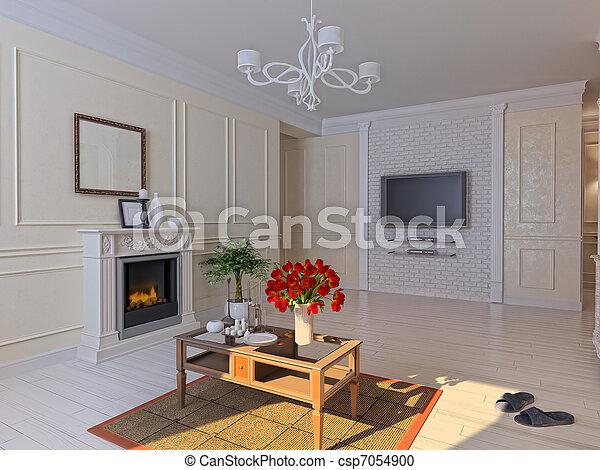 living room - csp7054900
