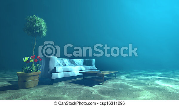 Superior Living Room Underwater For Relaxation   Csp16311296