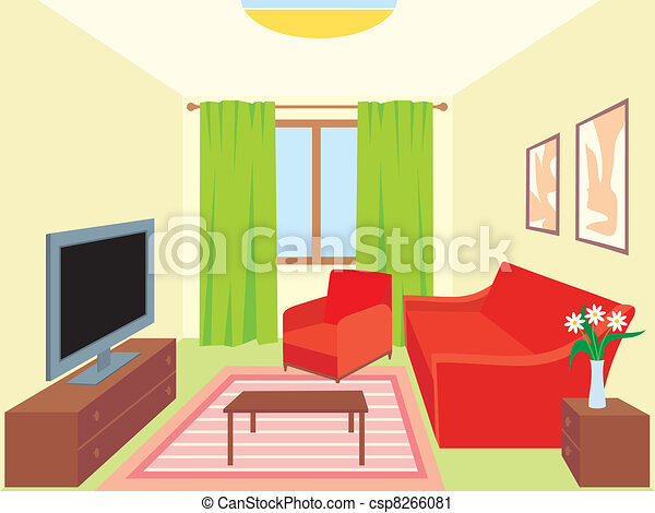 Living Room Vector Clip Art