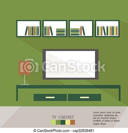 Living Room vector illustration - csp32838481