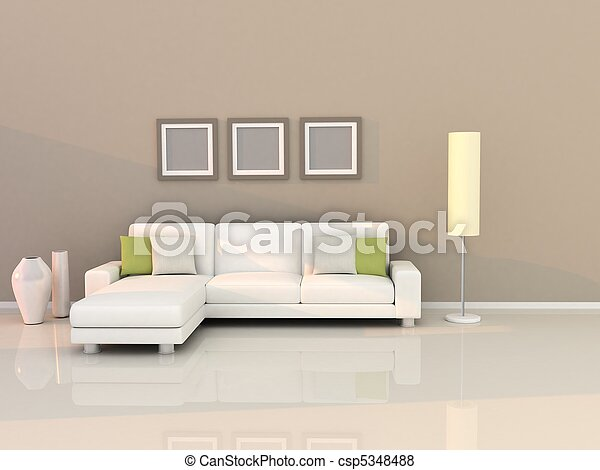 living room with modern style - csp5348488