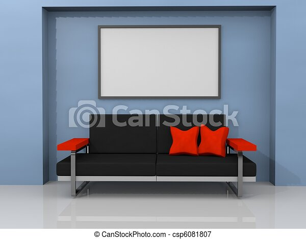 living room with sofa - csp6081807