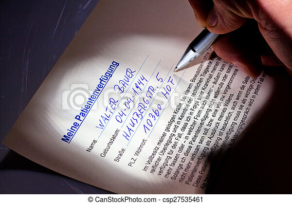 living will is written - csp27535461
