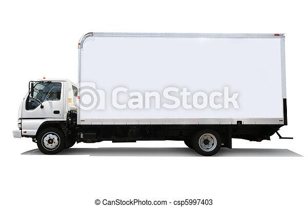 livraison, blanc, camion - csp5997403
