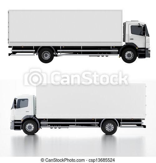 livraison, camion cargaison, / - csp13685524