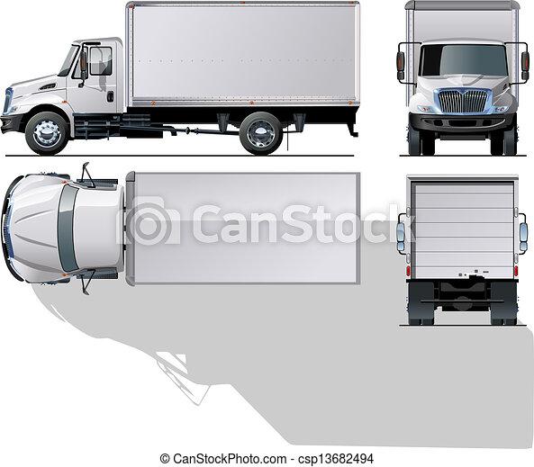 livraison, camion cargaison, / - csp13682494