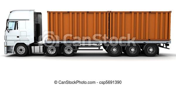 livraison, récipient, fret, véhicule - csp5691390