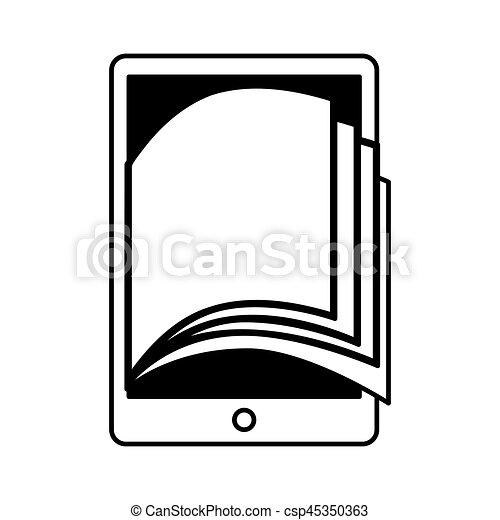 Livre Electronique Tablette Icone