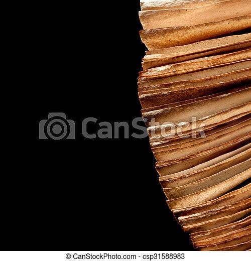 Livre Ancien Ouvert Pages