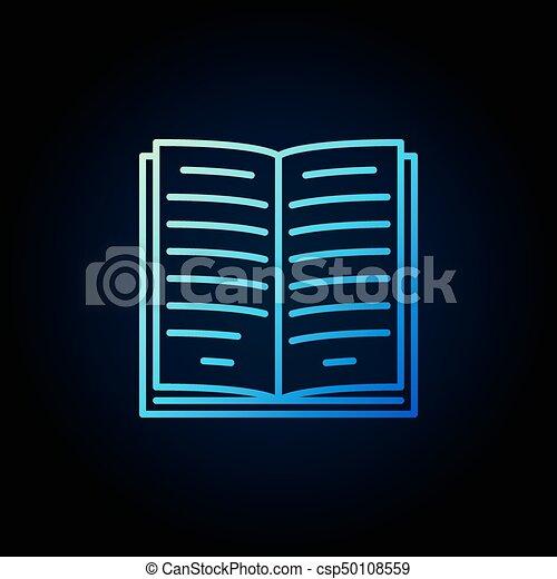 Livre Bleu Contour Icone