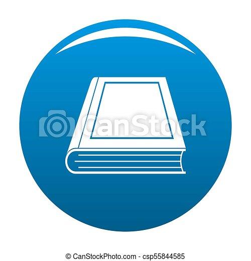 Livre Bleu Ferme Icone