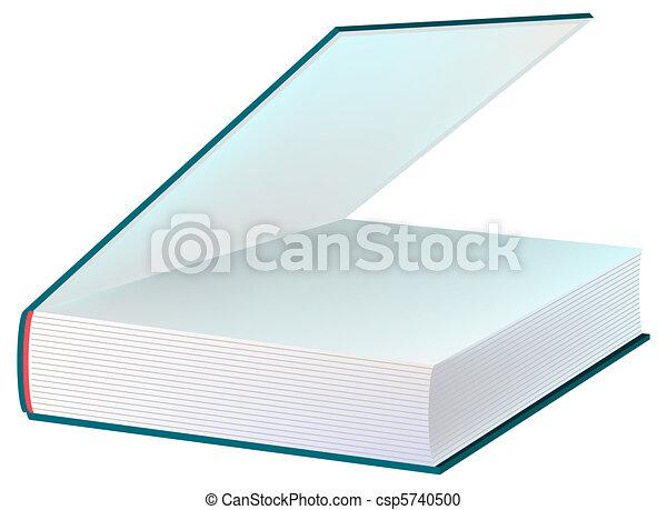 Livre Bleu Ouvert