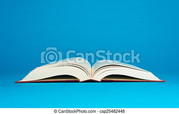 Livre Bleu Ouvert Fond