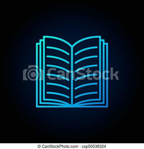 Livre Bleu Ouvert Icone