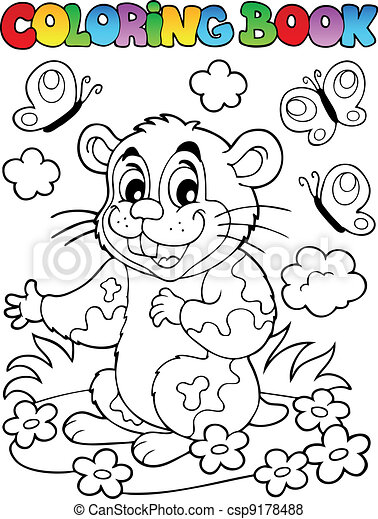Livre coloration hamster dessin anim coloration - Hamster dessin anime ...