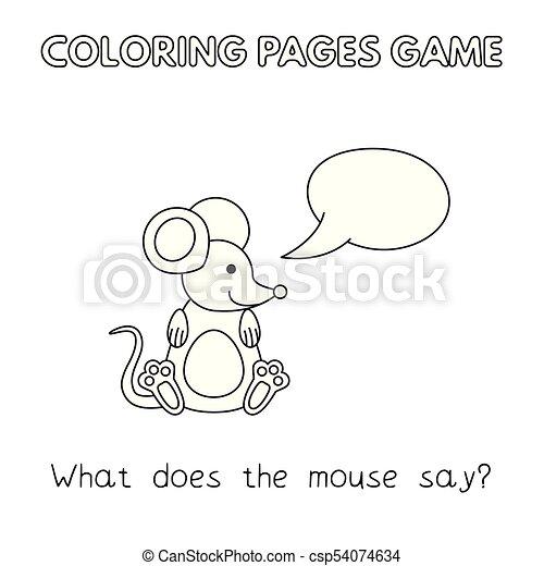 livre coloration, souris, dessin animé - csp54074634