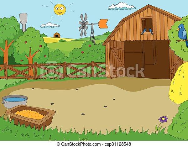 Livre ferme dessin anim couleur vecteur enfants vecteur ferme illustration dessin - Dessin d une ferme ...