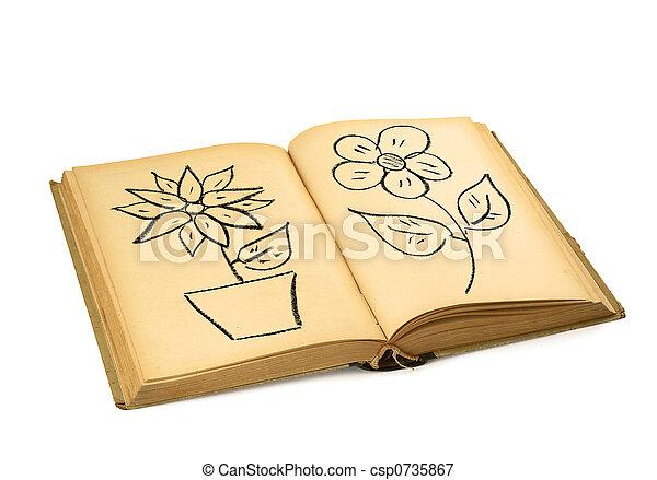 Livre Fleur Dessins Fleur Droit D Auteur Non Infringement