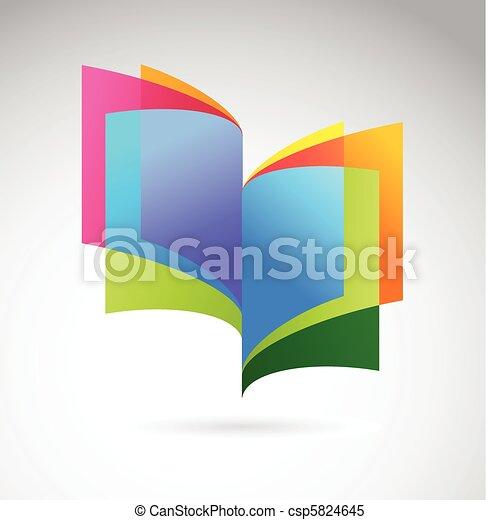 livre, icône - csp5824645