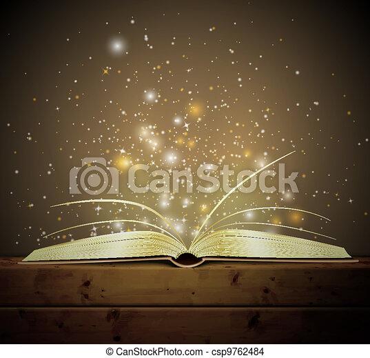 livre, magie - csp9762484