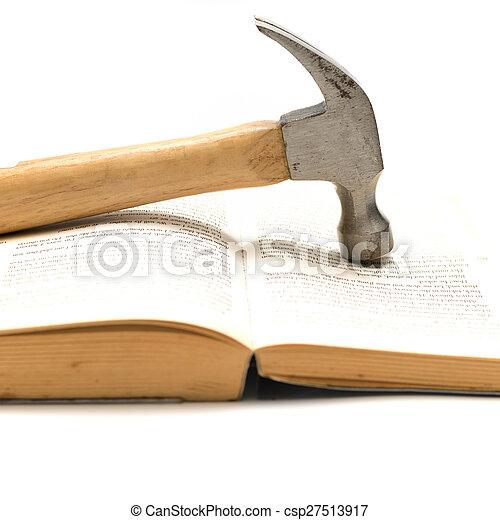 livre, marteau - csp27513917