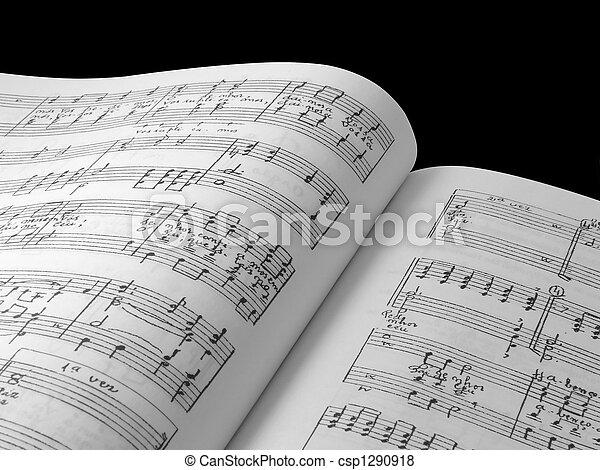 livre musique, composition - csp1290918