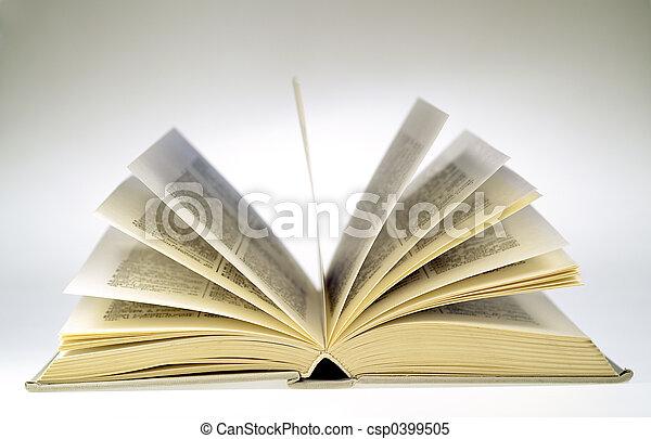 livre, ouvert - csp0399505