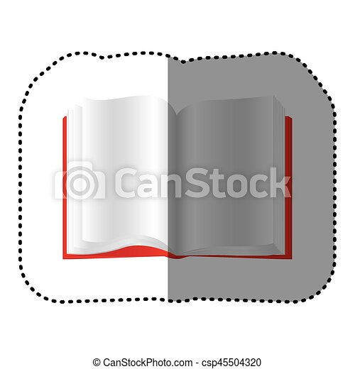 Livre Ouvert Rouges Icone