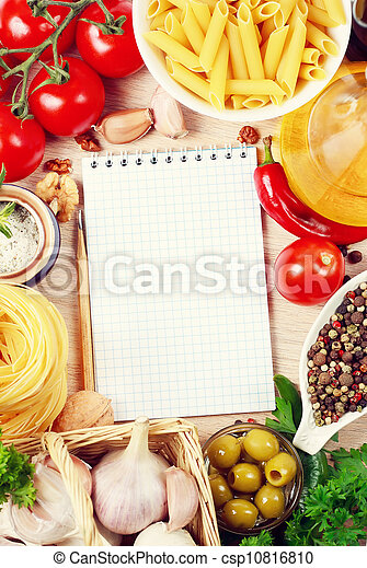livre, recette, vide - csp10816810