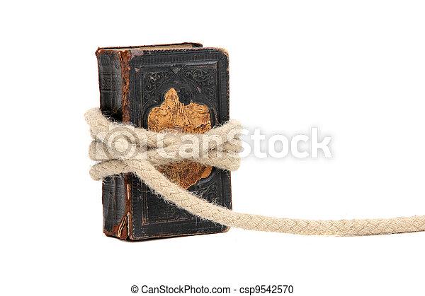 livre, vieux, capturé - csp9542570