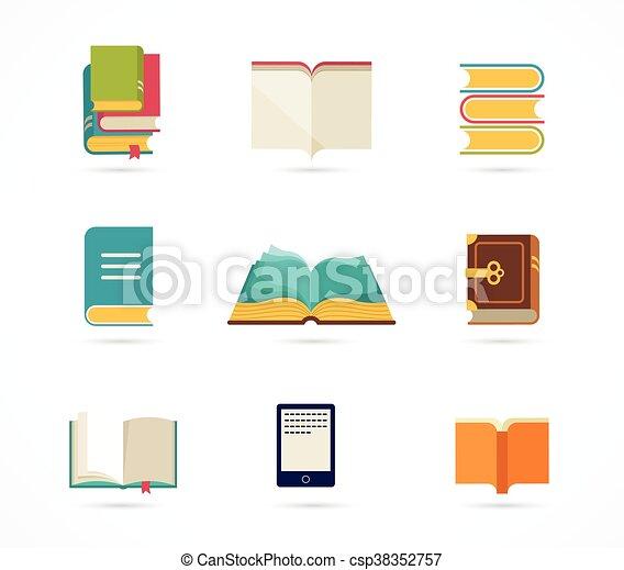 livres, collection, icônes - csp38352757