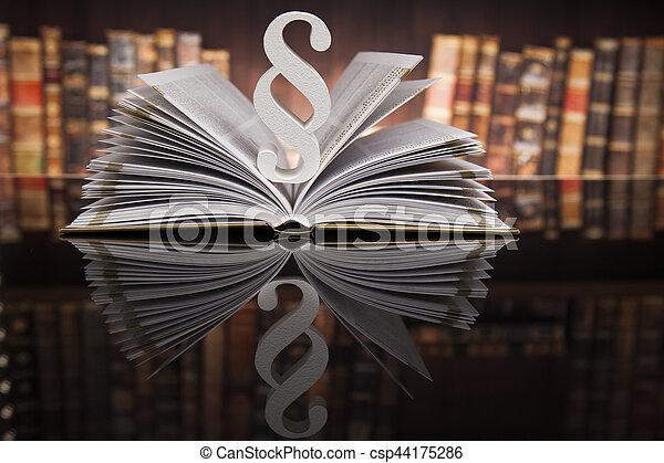 livres, concept, paragraphe, salle audience, justice, droit & loi - csp44175286