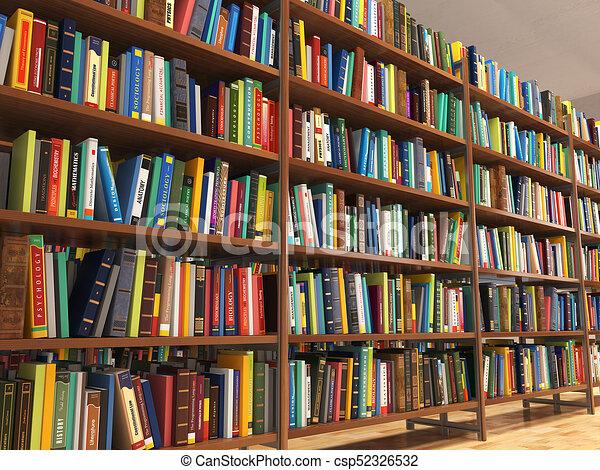 Livres Piles Bibliotheque Bookshelf Illustration Livres