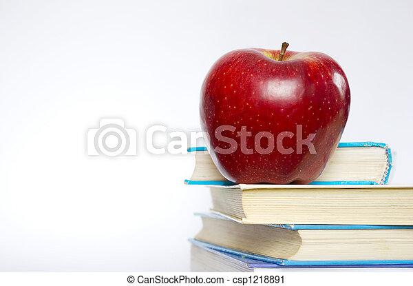 livres, pomme - csp1218891