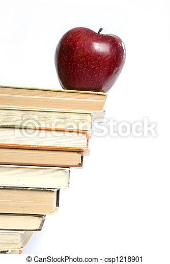 livres, pomme - csp1218901