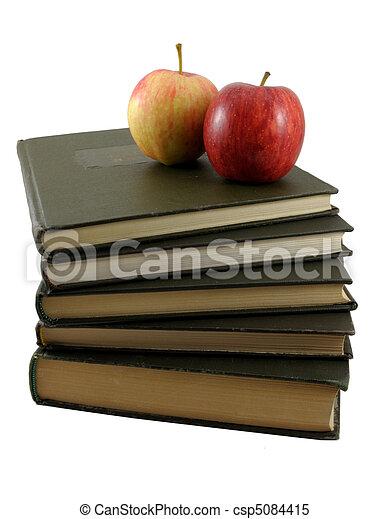 livres, pomme - csp5084415